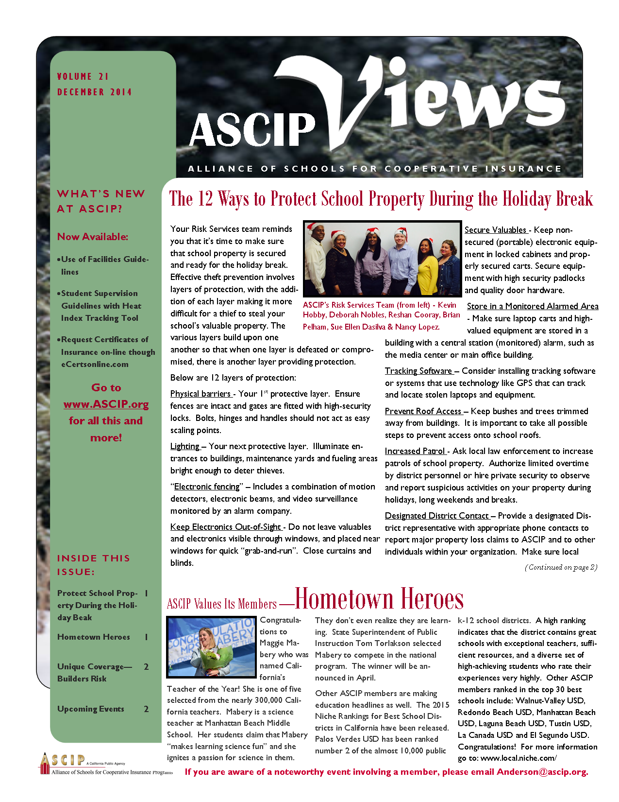 ASCIP Newsletter-Dec 2014