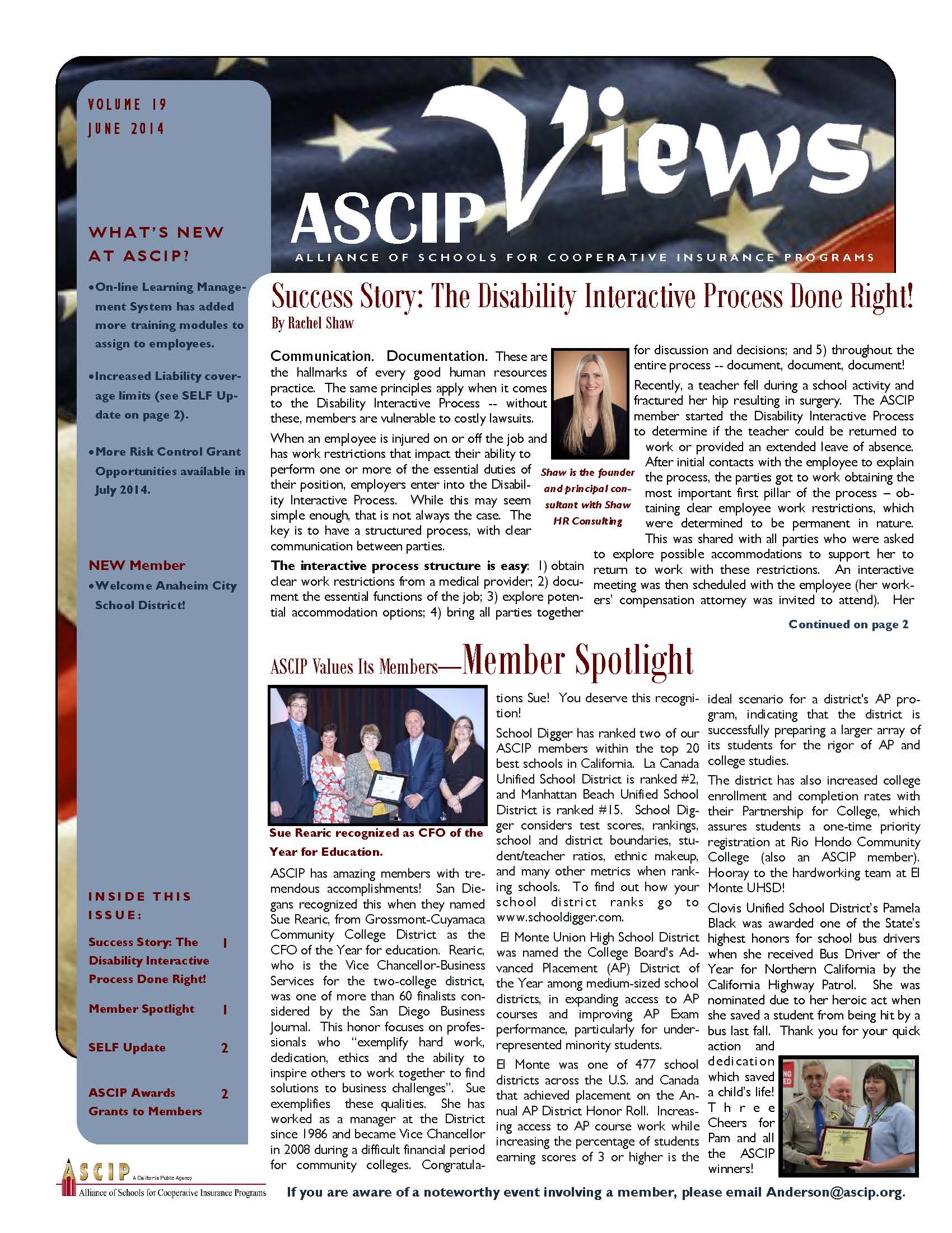 ASCIP Newsletter-June 2014 Image