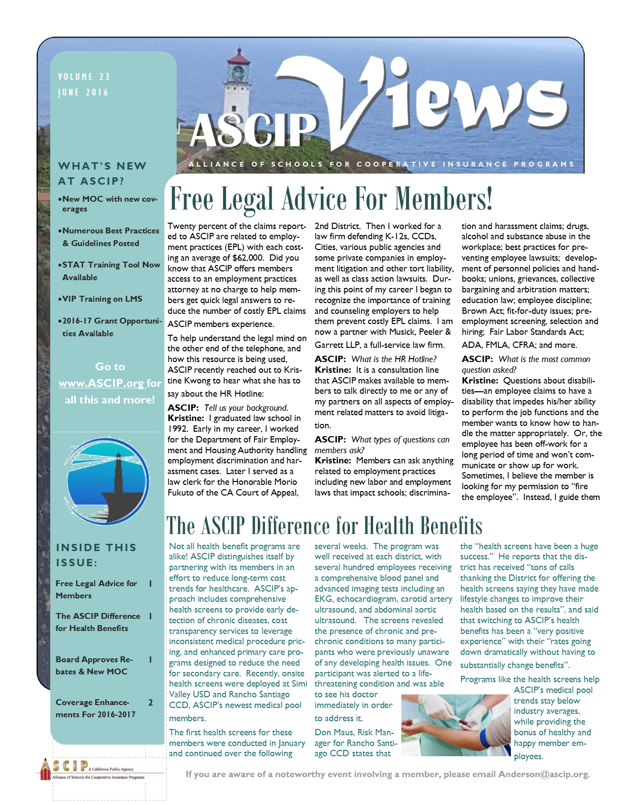ASCIP Newsletter-June 2016