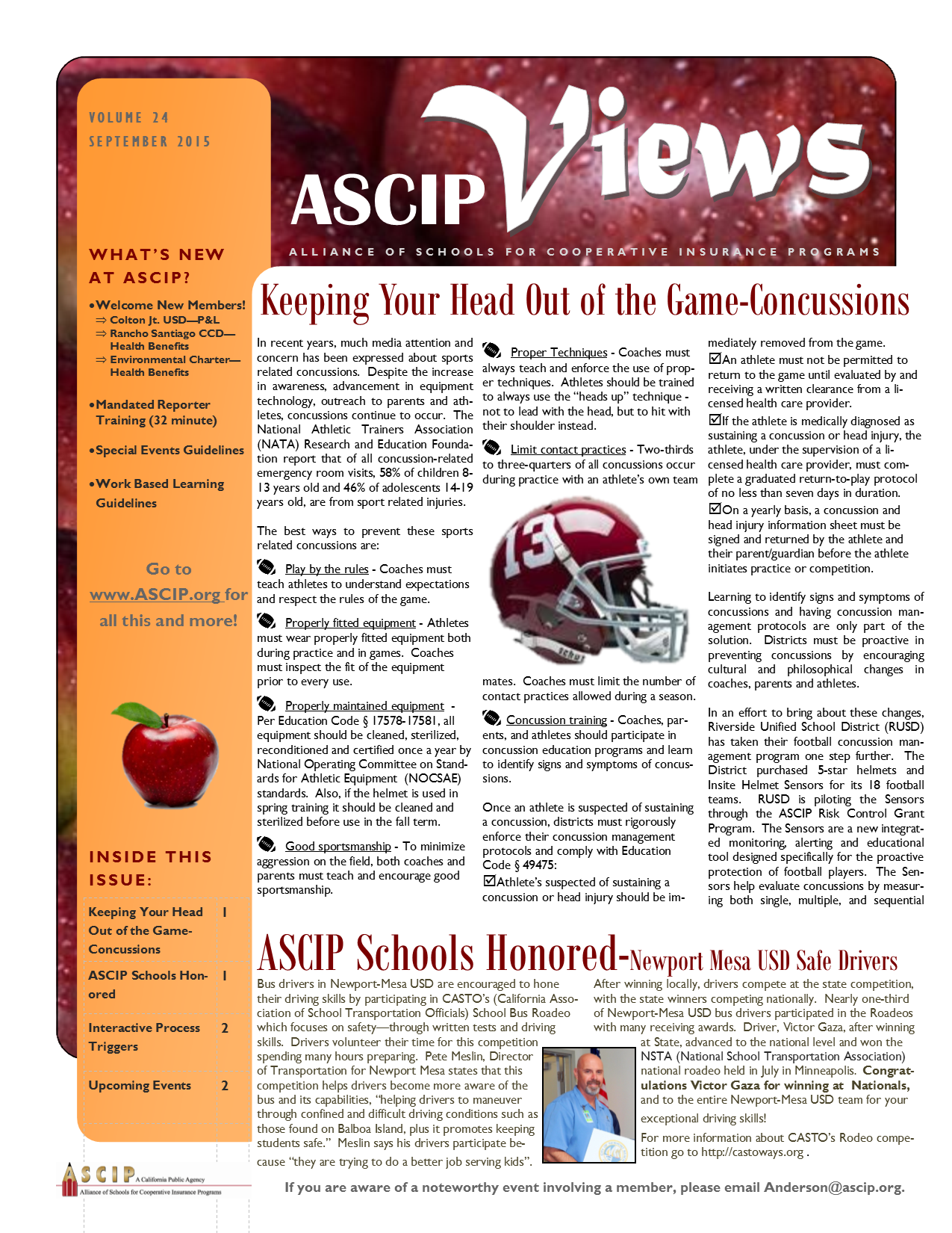 ASCIP Newsletter-September 2015